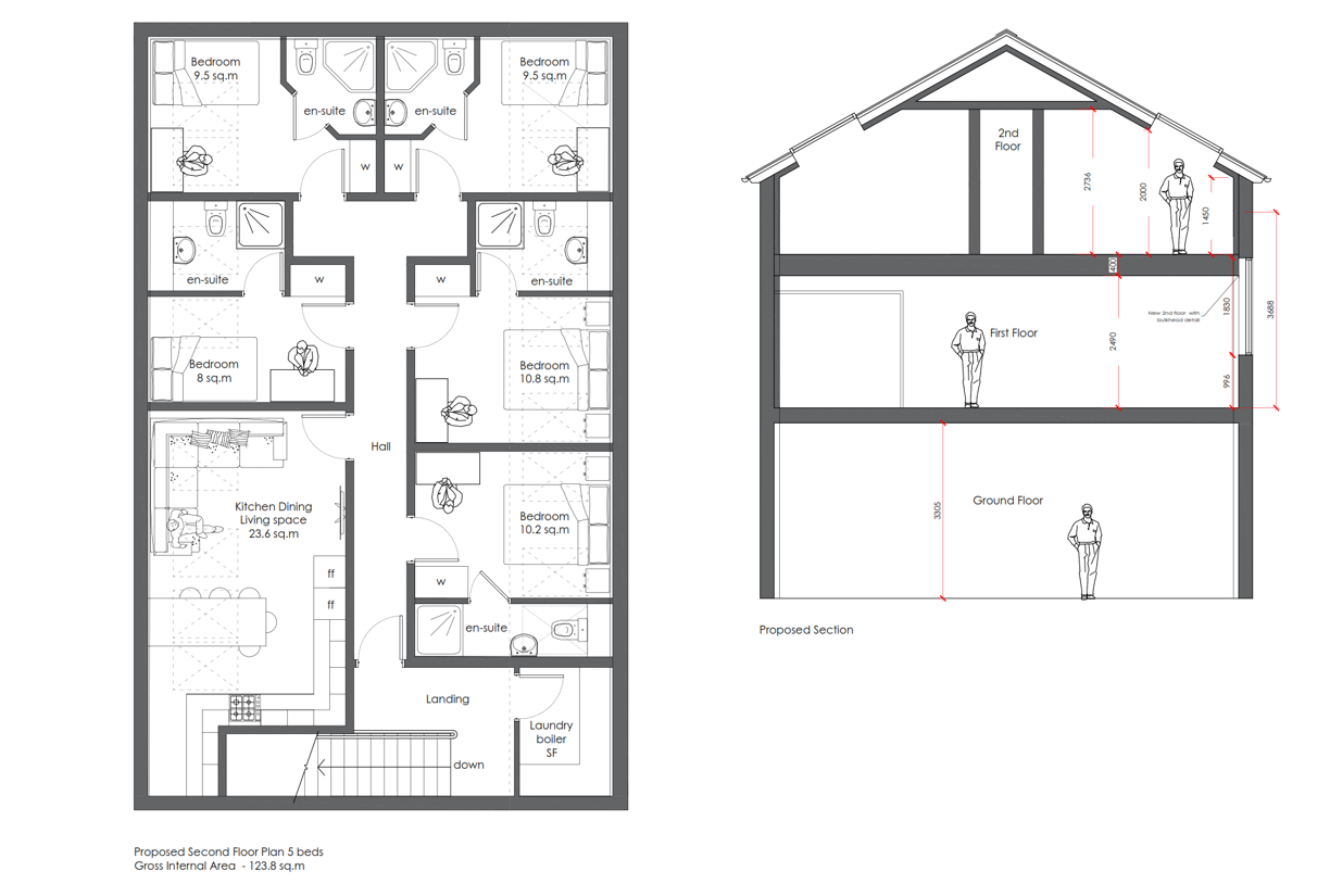 Proposed 2nd Floor Plans
