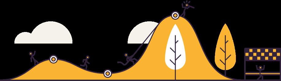 cycling race illustration